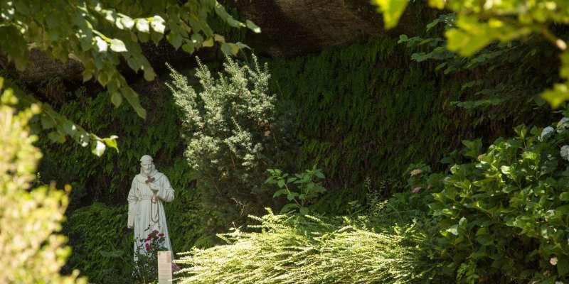 Le parc du sanctuaire de Brive