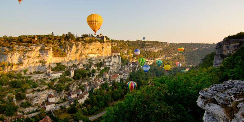 Les montgolfiades de Rocamadour © C. Novello