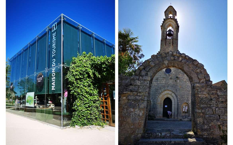L'Office de Tourisme et la Chapelle de L'Hospitalet