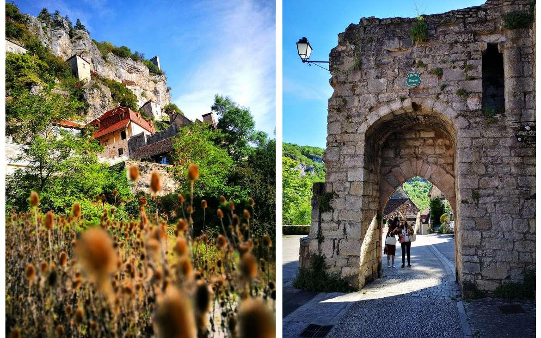 Rocamadour vue depuis la Porte Basse et Porte Hugon