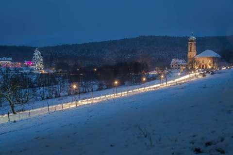 Basilica in winter