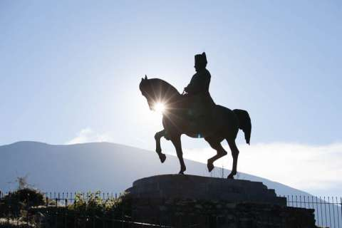 Statue de Napoléon, prairie de la Rencontre