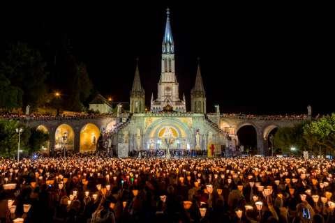 Candle-lit procession