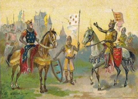 Philippe Auguste et Richard Cœur de Lion avant leur départ
