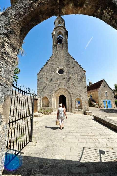 Ruines de l'ancien hôpital à Rocamadour