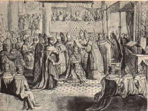 Le sacre d'Henri IV