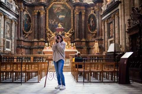 Inside the basilica St-Maximin