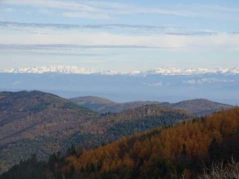 Vue sur les Alpes depuis Lalouvesc